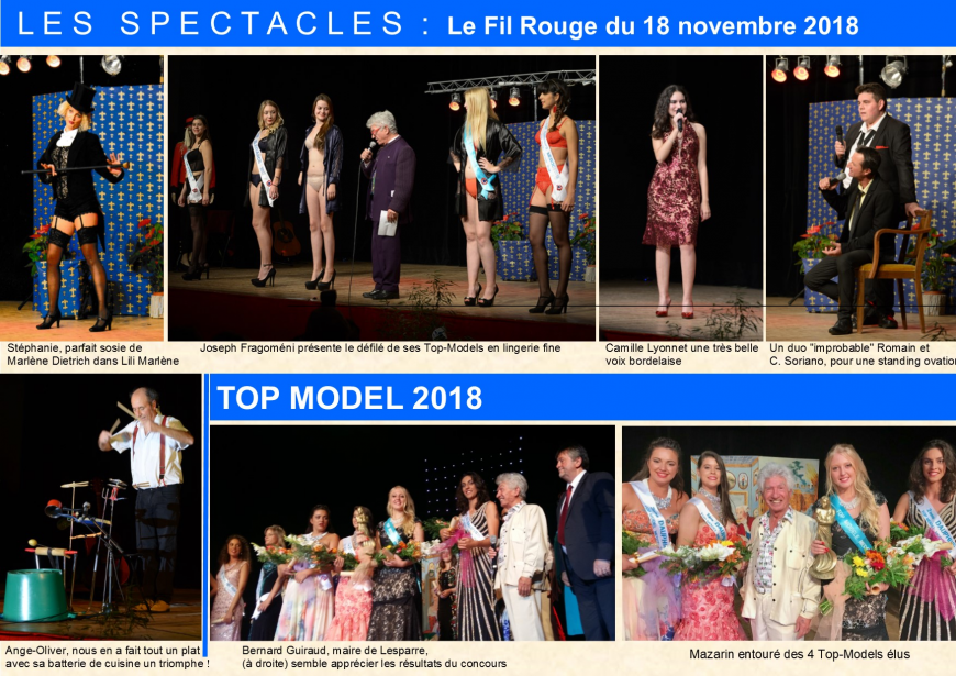 Palais du costume Mazarin * 2016 élection TOP MODEL. Visite de Jean DUJARDIN au Palais